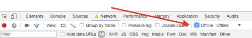 Offline mode in Chrome