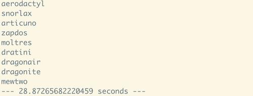 Result of 150 API calls using requests