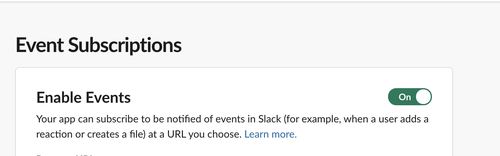 slack enable events