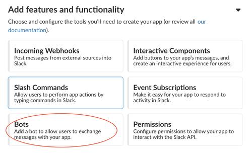 Create a Slack Bot for API Keys in the Python integration