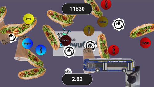 Tham's hackathon-built video game: A frenetic blitz of owo, uwu, campus buses, boba, and cats