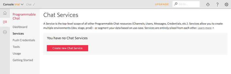 Twilio Chat Services