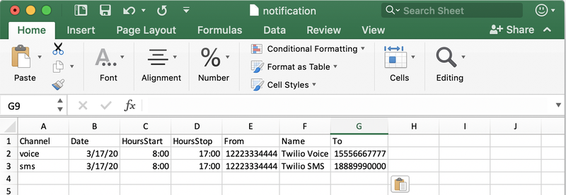 Sample CSV with employee or customer information