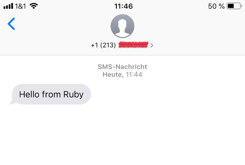 SMS from Ruby received