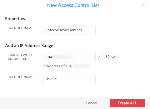 SIP Access Control List