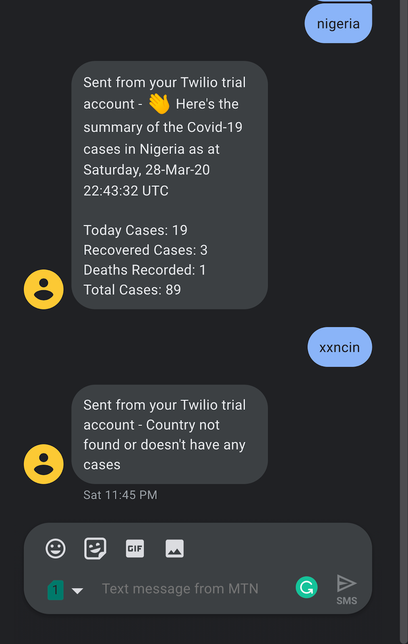 SMS bot on iphone
