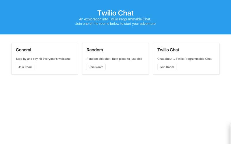Twilio chat example app