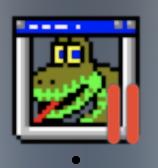 Python 2.3.4 shell icon on toolbar