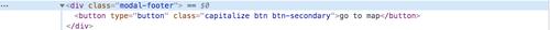 HTML for modal element