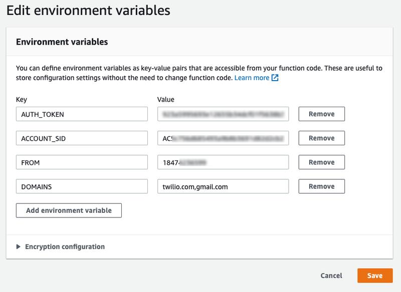 Edit environment variables inside AWS Lambda