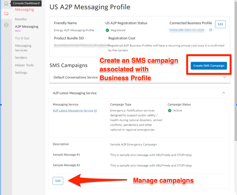 US A2P 10DLC Onboarding: Create & Manage Campaigns