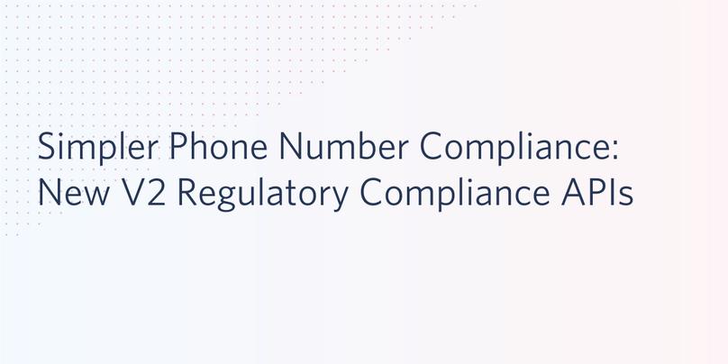Phone Number Compliance API v2