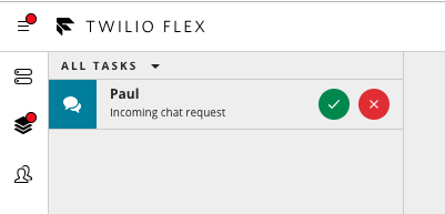 Accept a Flex chat session