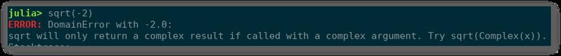 An example of a Julia error message