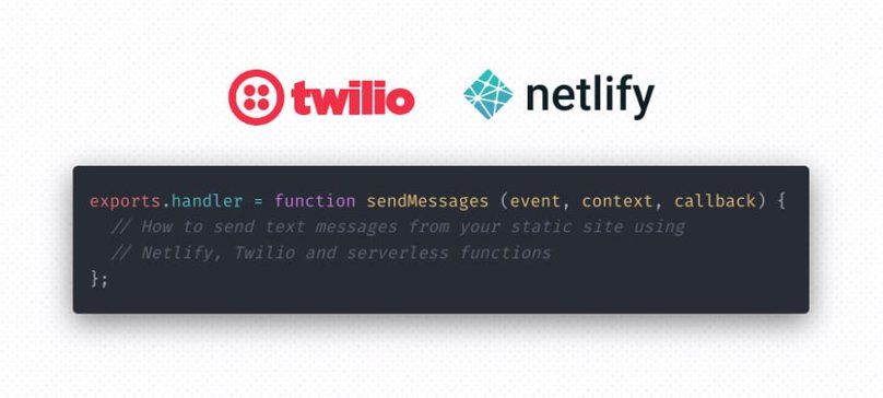 How to send messages with Twilio and Netlify