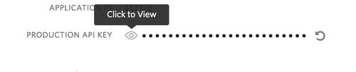 Pantalla de consola parcial de Twilio con información de clave API
