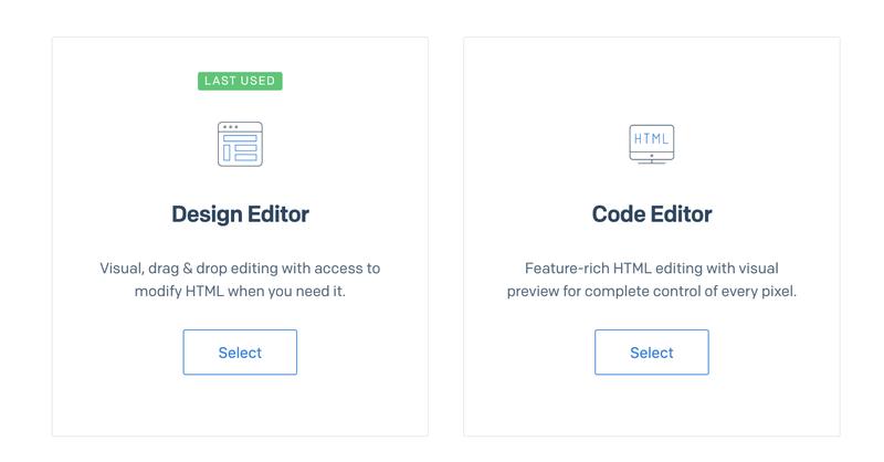 SendGrid Design Template Code Editor