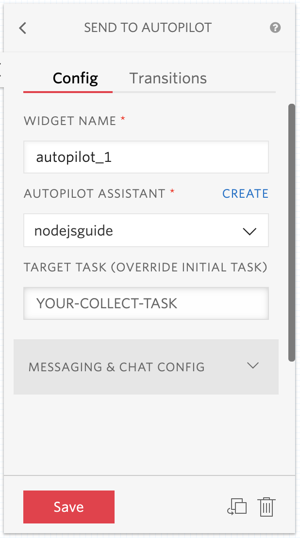Autopilot Trigger Target Task