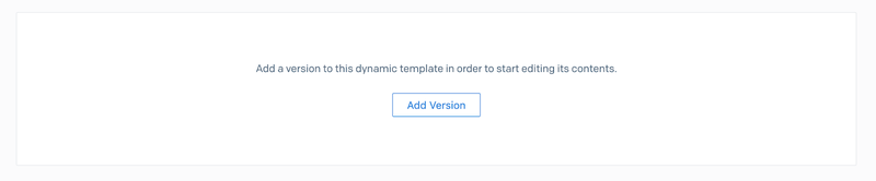 Add version to SendGrid Template