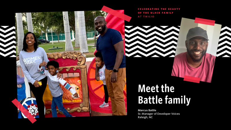 Marcus Battle with his family