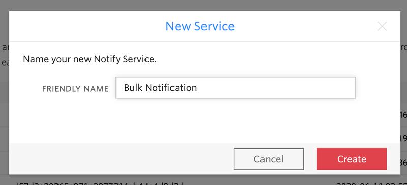 New Service prompt