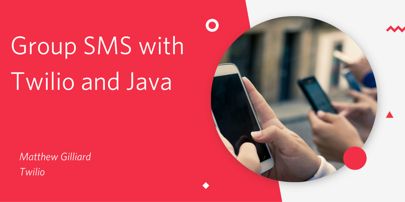 Group SMS with Twilio and Java