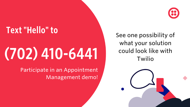 Try the Twilio Appointment Management Demo at HIMSS 2021