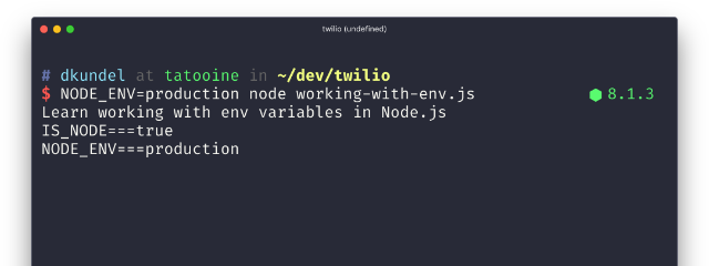 Arbeiten mit Umgebungsvariablen in Node.js