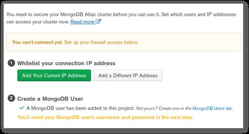 Allow an IP Address in MongoDB Atlas cluster