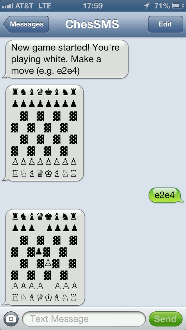 SMS Chess Demo
