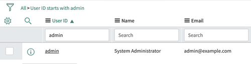 A screenshot of the User Selection window in the ServiceNow dashboard