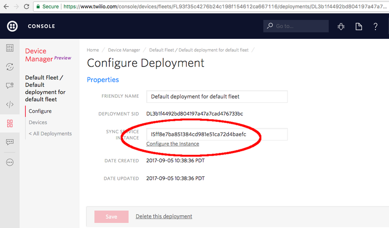 Every deployment is configured with a default Service Instance.