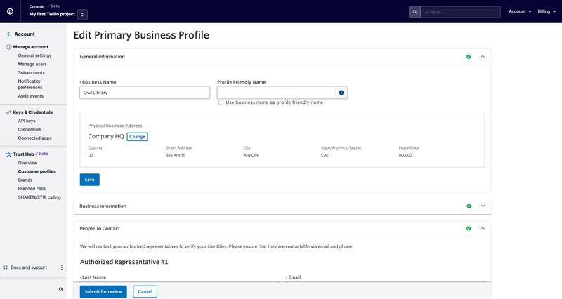 Customer Profiles with Address