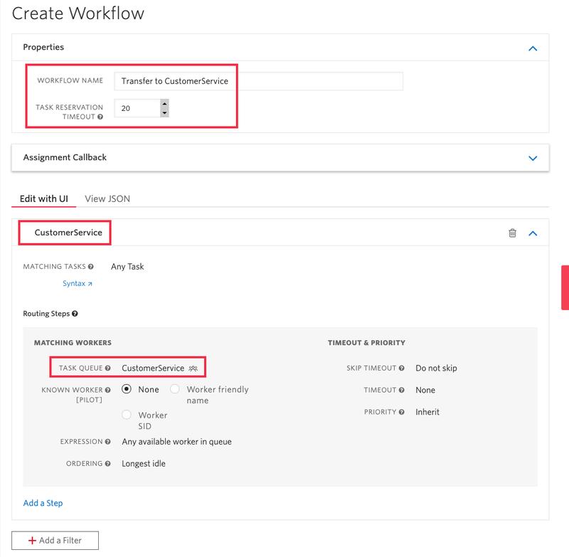 Create TaskRouter Workflow
