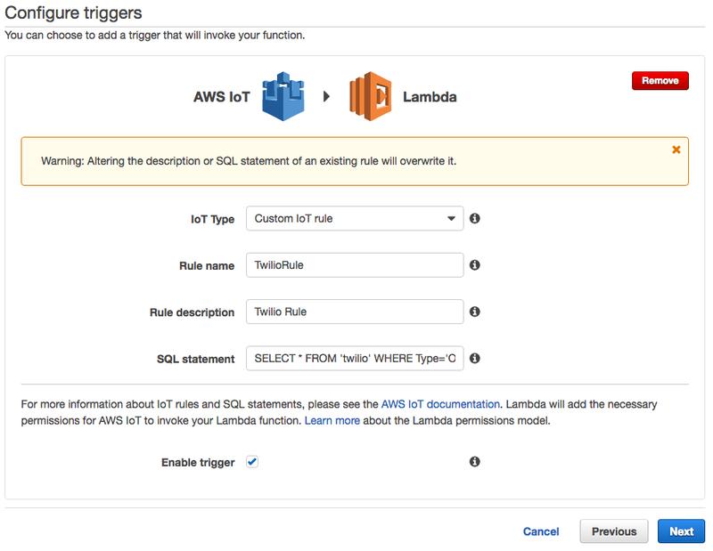 Amazon LambdaとAWS IoTを統合する