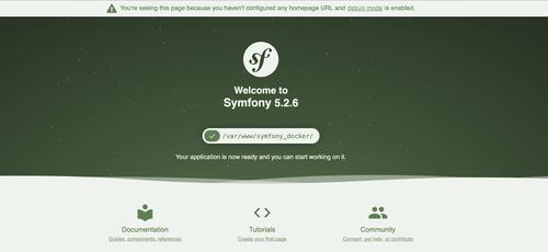 Default Homepage for Symfony