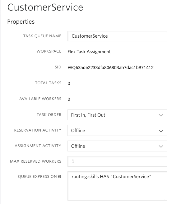 Customer Service Task Queue