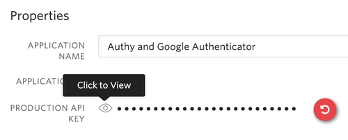Authi-API-Schlüssel