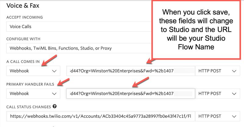 Add query parameters to Webhook URLs in Twilio Studio