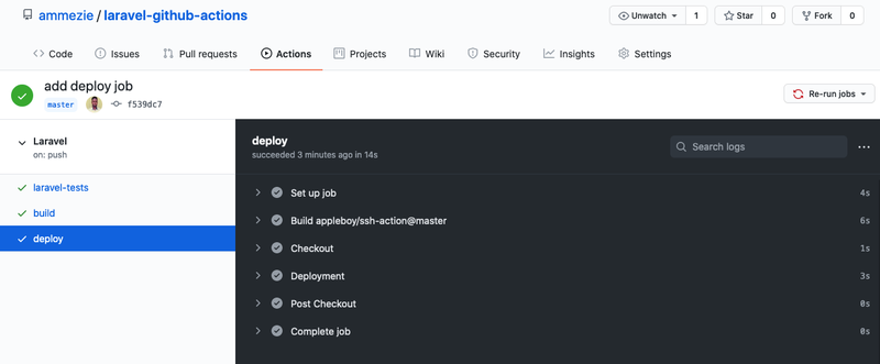Github Actions deployment