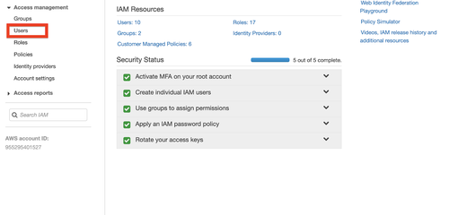 AWS IAM Resources