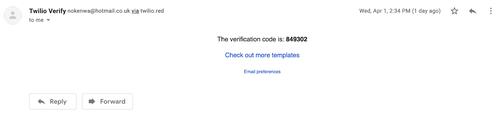 Sample Email Verification