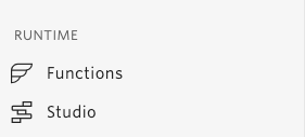 Runtime section in the Twilio Console menu