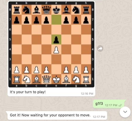 making a chess move on whatsapp