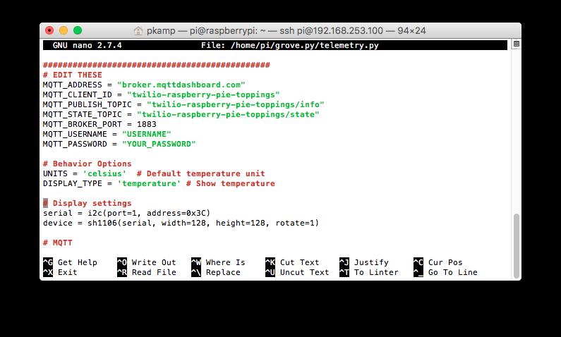 Telemetry Script Python