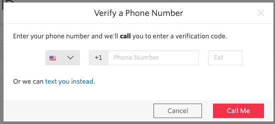 Verify a Phone Number