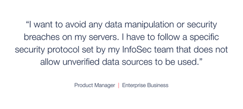 Example product manager quote about the importance of security.