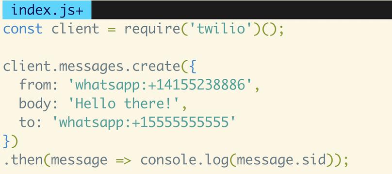 Senden einer WhatsApp-Nachricht mit JavaScript und Node.js