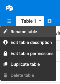 Rename table