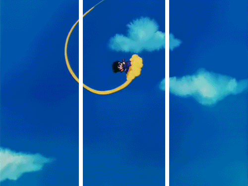 Flying away Dragonball Scene